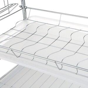 Image 5 - Multi functional 3 Tier Dish Rack Kitchen Supplies Storage Rack Draining Rack Chopsticks/Knives/Cutting Board Holder Drainboard
