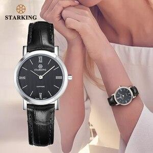 Image 2 - STARKING Reloj de acero inoxidable para mujer, de zafiro Delgado, de cuarzo japonés, Vintage, femenino