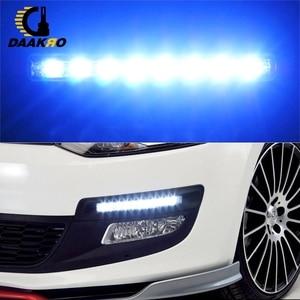 Image 3 - Car Motercycle Light 8 High Power LED DRL Fog Driving Daylight Daytime Running 6000K White Lamp Day Light DRL High Quality