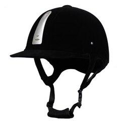 Casco de montar a caballo ecuestre profesional transpirable duradero Unisex media cubierta flocado casco de montar a caballo