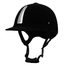 купить Professional Equestrian Horse Riding Helmet Breathable Durable Unisex Half Cover Flocking Horse Riding Helmet дешево
