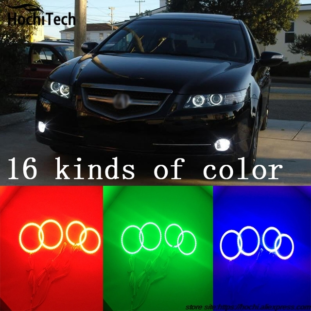 For Acura TSX Super Brightness Colorshift RGB Angel Eyes Halo Ring - 2005 acura tsx accessories