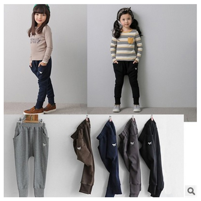 Fashion Autumn Winter Harem Pants For Boys Girls Children Leisure
