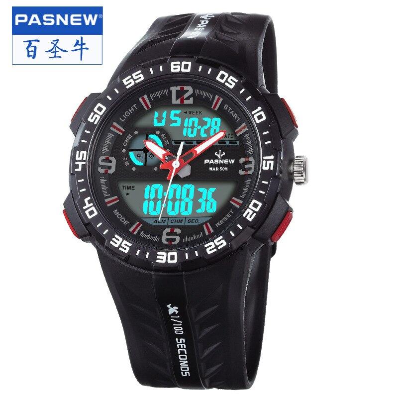 ФОТО pasnew sports watches children Boys clocks digital student man fashion wristwatches multifunctional waterproof outdoor PSE-442A