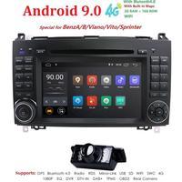 Android 9,0 2din автомобильное радио для машины мультимедийный DVD для Mercedes Benz B200 A B класс W169 W245 Viano Vito W639 Sprinter W906 WI FI gps