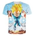 T-Shirt Dragon ball Z Majin Vegeta Personagem Dos Desenhos Animados t camisa Dos Homens Das Mulheres harajuku estilo Dos Desenhos Animados tees Tops camisas 21 estilo