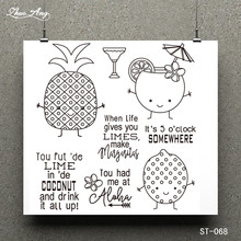Pineapple and Juice Clear Stamp for Scrapbooking Rubber Stamp Seal Paper Craft Clear Stamps Card Making стоимость