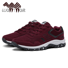 LUONTNOR Spring Autumn Men Trainers Sneakers Sport Running Shoes Breathable Mesh Leather Athletic Shoes Suede Couple Unisex
