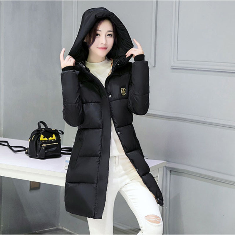 Hot New Arrival Casual Warm Long Sleeve Ladies Basic Coat Jaqueta Feminina Jacket Women   Parkas   Cotton Winter Jacket N101 Z44