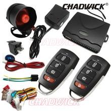 2018 NEW car alarm systems security Protection 12v DC Keyless Entry Siren 2 Remote Control Universal 1 way Burglar 8101 CHADWICK