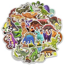 50pcs/30pcsCartoon Dinosaur Sticker Unicorn Flamingo Unicorn Toy for Children Waterproof Stickers to DIY Scrapbooking Motorcycle