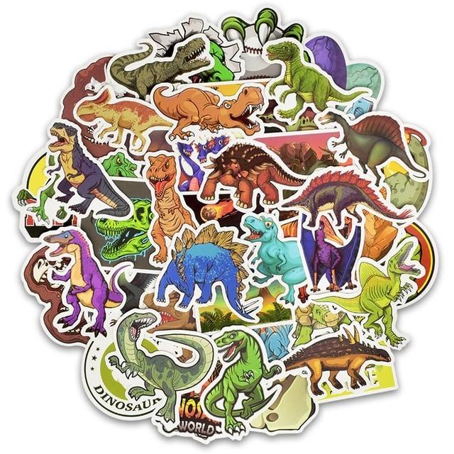 50pcs/30pcsCartoon Dinosaur Sticker Unicorn Flamingo Unicorn Toy for Children Waterproof Stickers to DIY Scrapbooking Motorcycle