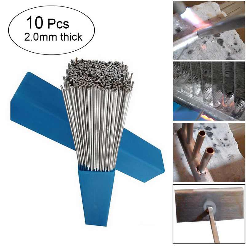 10PCS 2mm*50cm Low Temperature Aluminum Solder rod Welding Wire Flux Cored Soldering Rod No Need Solder Powder