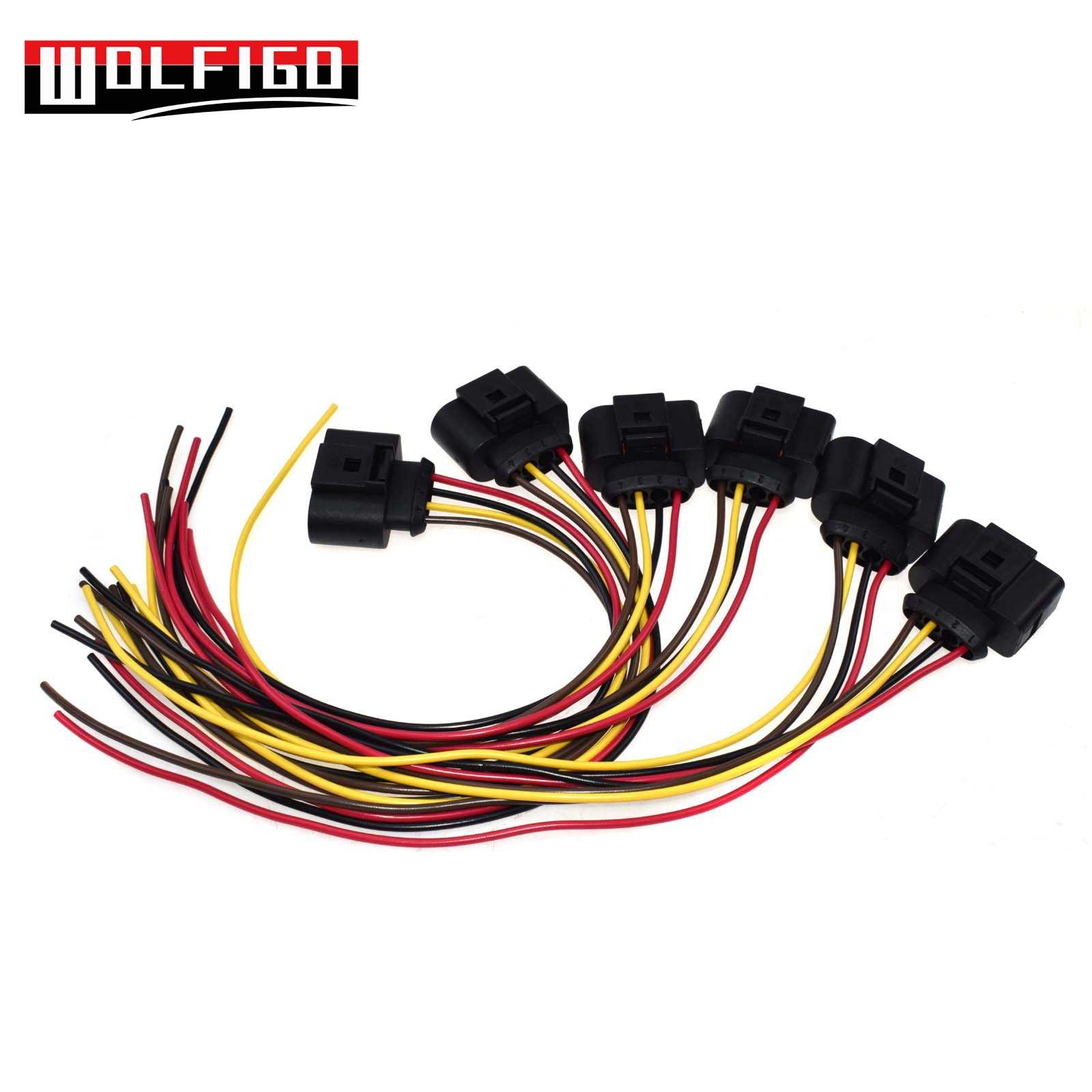 WOLFIGO 1PC or 5PCS Fuel Pump Cable Wire Wiring Harness Plug ... on