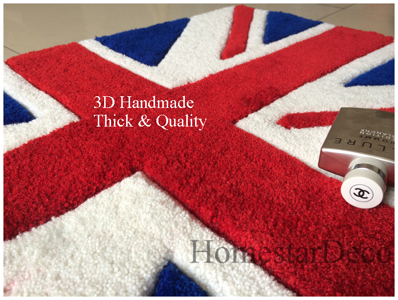 3D Embossed Union Jack Flag Rug British Flag Decorative Rugs Carpet High  Fashion Livingroom Carpet Floor Mat Handmade In Carpet From Home U0026 Garden  On ...