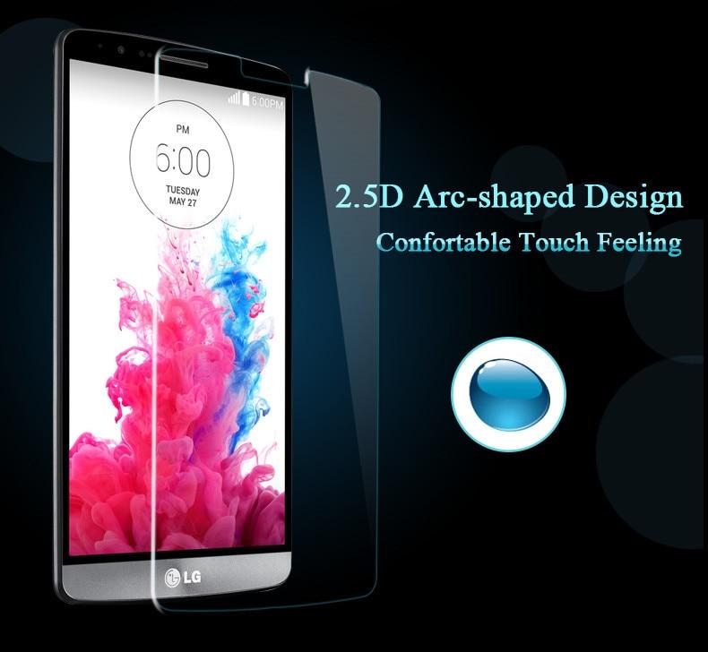 ГОРЯЧАЯ ПРОДАЖА 2016 Новых Прибытия Для LG G4 H818 G3 закаленное Стекло 0.26 мм 2.5D ДУГОВЫМ Ребром Передняя Пленка Протектора Экрана прочность