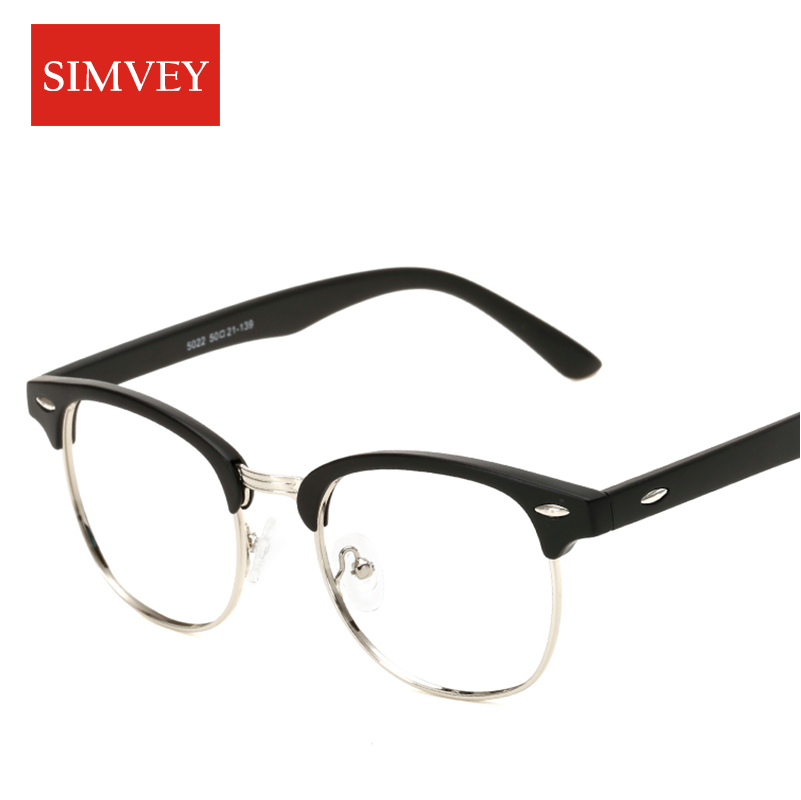 Simvey Klassische Halbrand Brillen Rahmen Frauen Männer Marke ...
