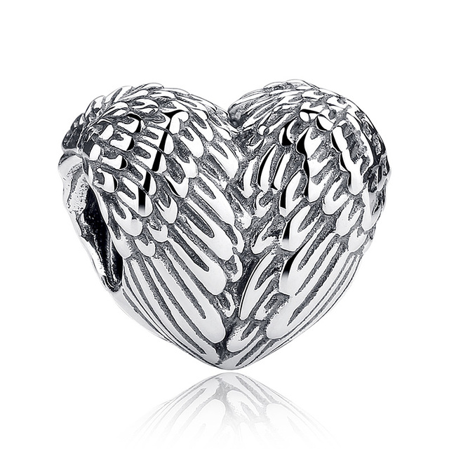 925 Sterling Authentic Silver Heart Shape Charm Beads Bracelet accessories