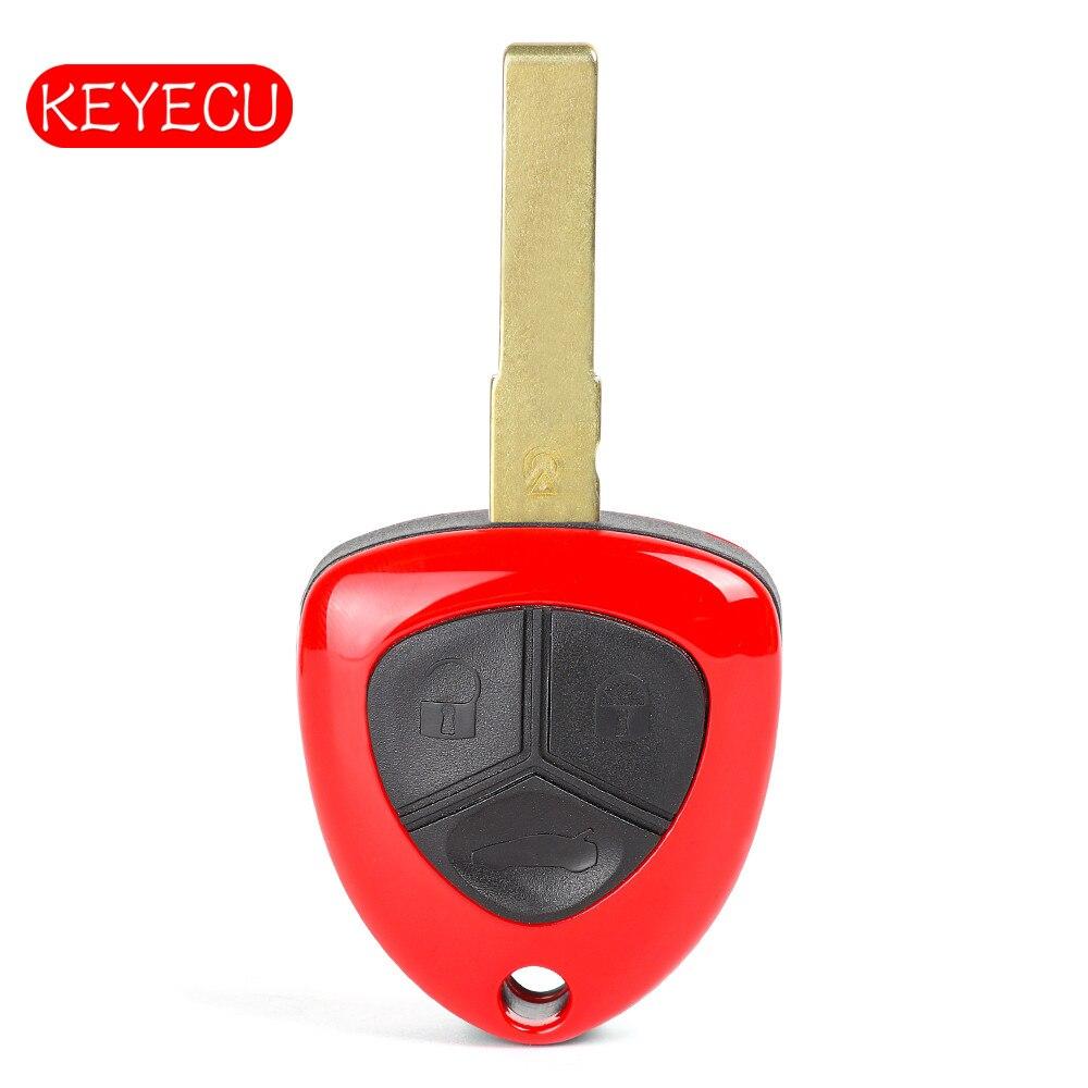 Keyecu Télécommande De Remplacement Clé Fob 3 Bouton 433 mhz ID48 pour Ferrari 458 Italia 2010-2014 Pas de Logo