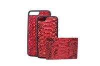 Genuine Leather Card Holder Women Men Slim Mini Wallet Real Snake Skin Credit Card Holder Python Case For i6 i7 Case For Cards