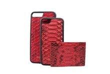 Genuine python skin leather card holder slim wallet , snake leather credit card holder python case for i6 i7