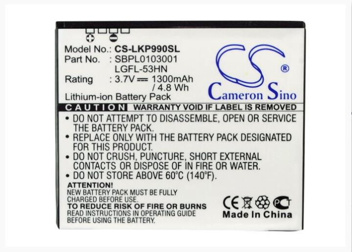 Cameron Sino 1300mAh battery for LG C729 Doubleplay G2X Optimus 2X 3D Speed  P920 P920H P925 P929 P990 P999 Star Thrill 4G