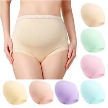 Comfort Pregnant Women Underwear Solid Color Pattern Panties