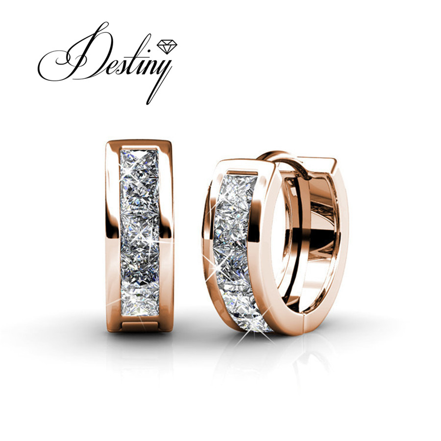 Destiny Jewellery Embellished With Crystals From Swarovski Earrings Hot  Sales Earrings Pendientes Hombre De0215(china