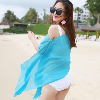 TDFunlive nieuwe zomer chiffon bedrukte losse vest sjaal vrouwelijke - Sportkleding en accessoires - Foto 3