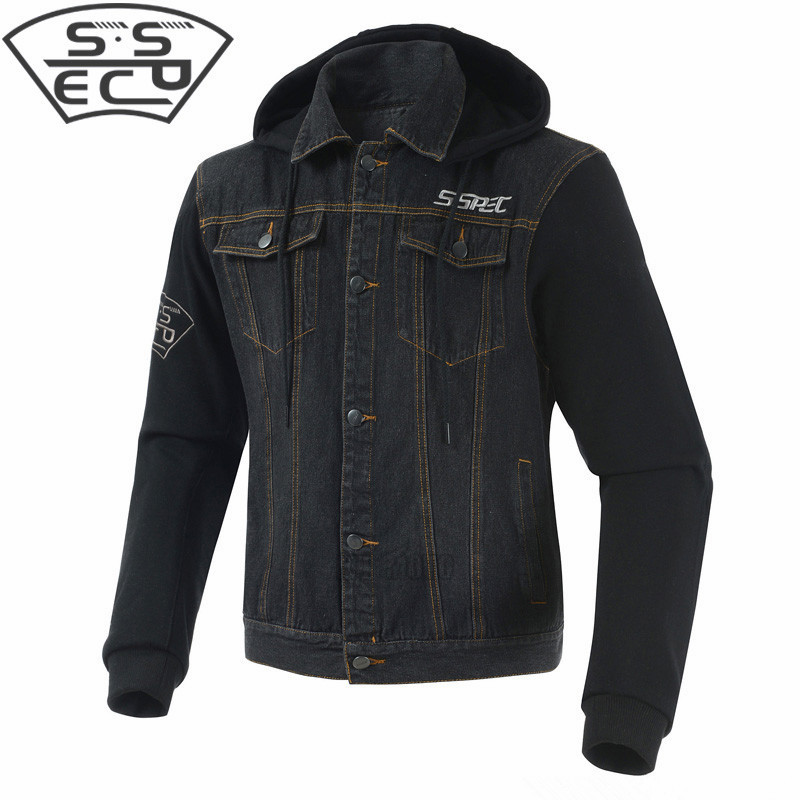 2018 Motorcycle Jacket Spring Summer Men Denim Jacket Windproof Moto Motorbike Jean Jackets Chaquetas Outerwear With Protectors