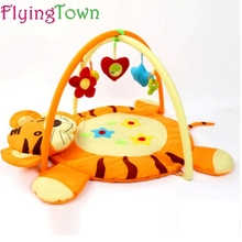 FlyingTown 85cm Play Mat New Tiger models Baby Blanket Inflant Cartoon Game Play Mats Carpet Child Toy Climb Mat Indoor Gift 2017 hot sale fashion baby blanket game mat bear blanket baby tiger blanket animal carpet warm bear play mats autumn winter