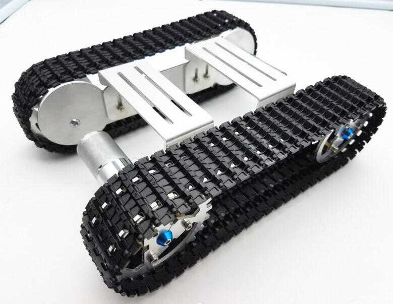 Tracker Crawler Aluminium alloy Platform Damping balance Metal Tank Robot Chassis high power Spring Creative DIY crawler night crawler