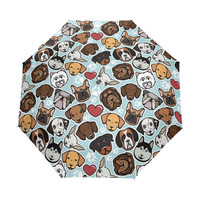 Animal head Umbrella Custom Foldable Rain Umbrella Wind Resistant Windproof Floding Travel Umbrella