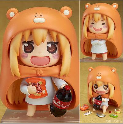 10cm Himouto Umaru-chan Nendoroid Umaru #524 Anime Action Figure PVC toys Collection figures for friends gifts anime himouto umaru chan umaru doma casual dance pants lovely fashion school backpacks for girls canvas
