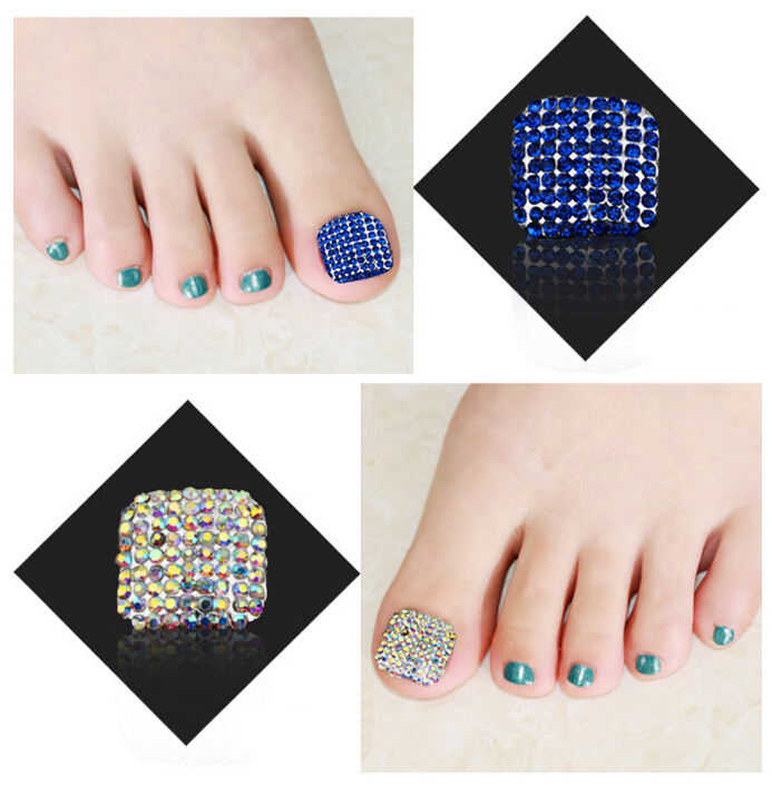 High Quality Toenails Nails Metallic For Foot Nail With Rhinestone ...