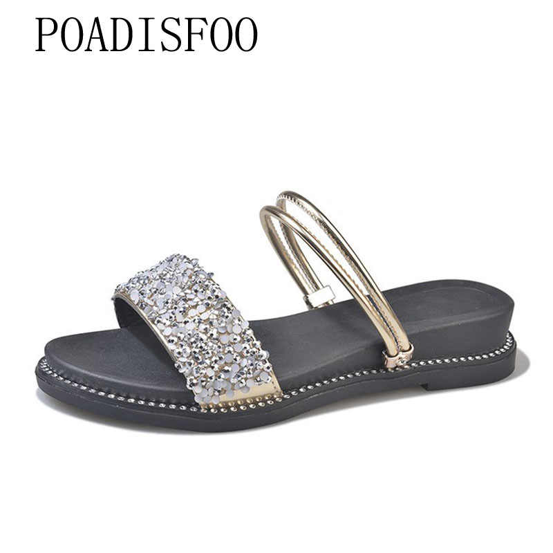 LTARTA Summer Shoes Female 2019  Wild flat-bottom Shoes Simple One Shoes  women's Sandals Slipper  DFGD-8011