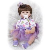 SGDOLL 22 Inch Big Eyes Brown Short Hair Girl Reborn Doll Soft Touch Vinyl Handmade