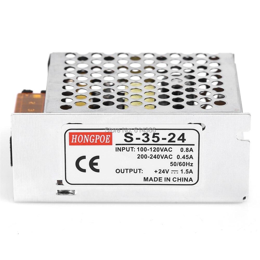 10PCS Best quality 24V 1.5A 35W Switching Power Supply 24V1.5A Driver for LED Strip AC 100-240V Input to DC 24V Power Supply 52pcs best quality 12v 24v 8 5a 4 2a 100w switching power supply driver for led strip ac 100 240v input to dc 12v 24v