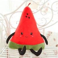 50CM One Piece Super Cute PP Cotton Stuffed Watermelon Plush Cushion Fruit Series Pillow Sleeping Pillows Birthday Gift 3 Style