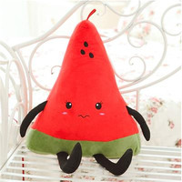 50CM One Piece Super Cute PP Cotton Stuffed Watermelon Plush Cushion Fruit Series Pillow Sleeping Pillows Birthday Gift 3 Style