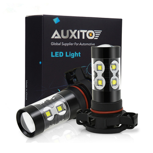 Image 1 - 2pcs PSX24W LED H16 H10 H11 H8 ערפל אור 9006 HB4 אוטומטי הנורה 880 881 50W LED הנורה רכב בשעות היום ריצת אור DRL מנורת 6000K לבן