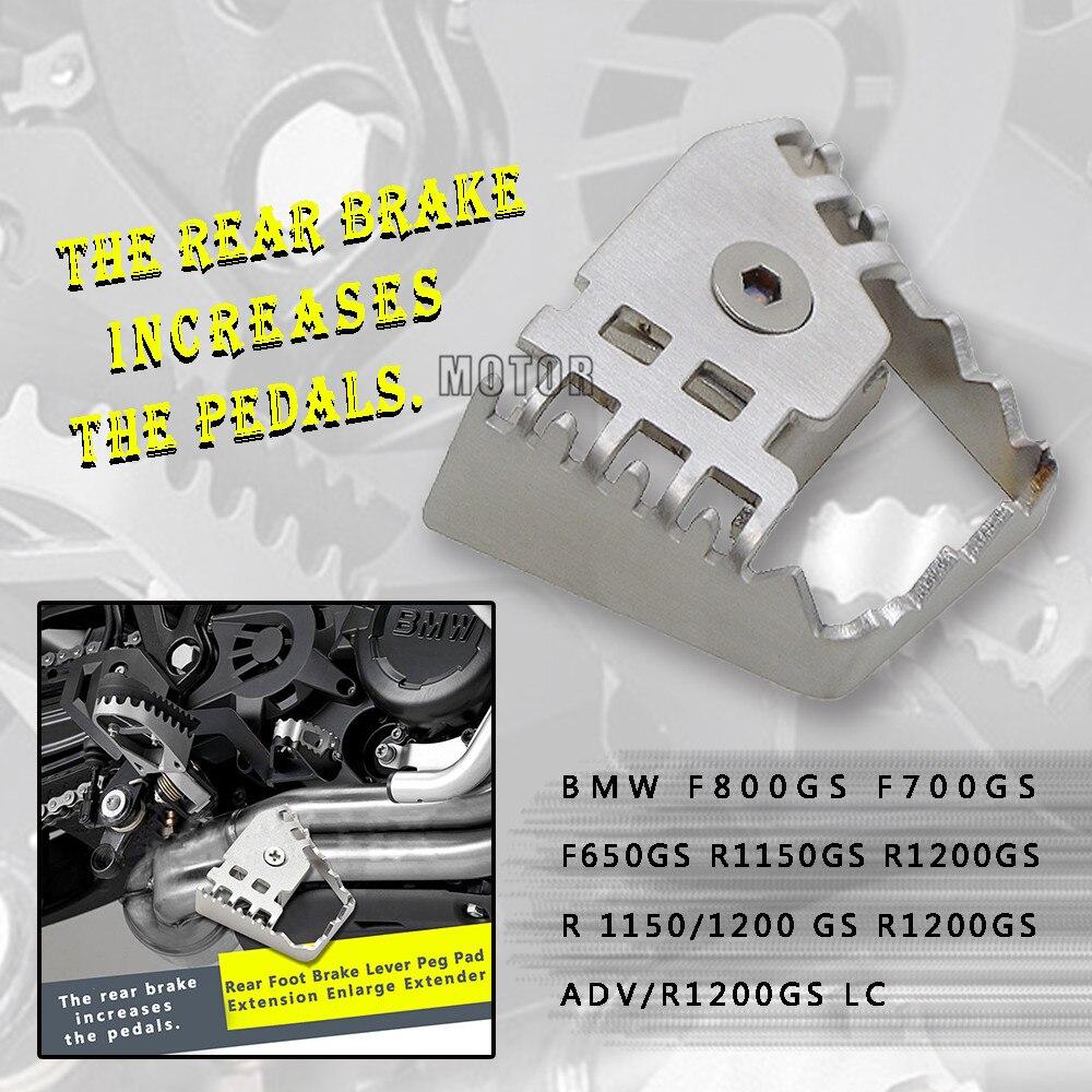 Rear Brake Peg Pad Enlarge Extender For BMW F 800 GS F800GS F700GS F650GS R1150GS R1200GS Motorcycle Foot Brake Lever Extension