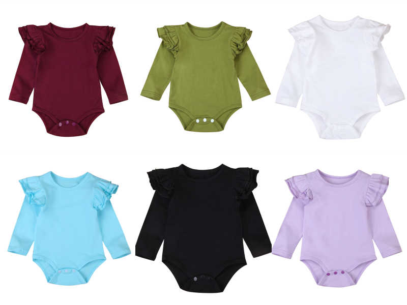 fd88a3cf1d629 Detail Feedback Questions about Infant Baby Girls Solid Ruffles Cotton  Romper Long Sleeve Outfits Jumpsuit Clothes on Aliexpress.com   alibaba  group