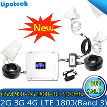 For 2 Rooms Tri-Band signal Booster 2G GSM 900 3G WCDMA 2100 4G LTE 1800 Cell Phone Cellular Repeater 70dB Amplifer Set