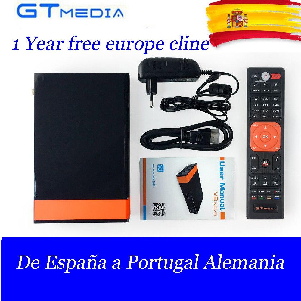 Горячие DVB-S/S2 спутниковый ТВ приемник GTMedia V8 Нова из Freesat V8 супер встроенный WI-FI с Европой Клайн ТВ коробка