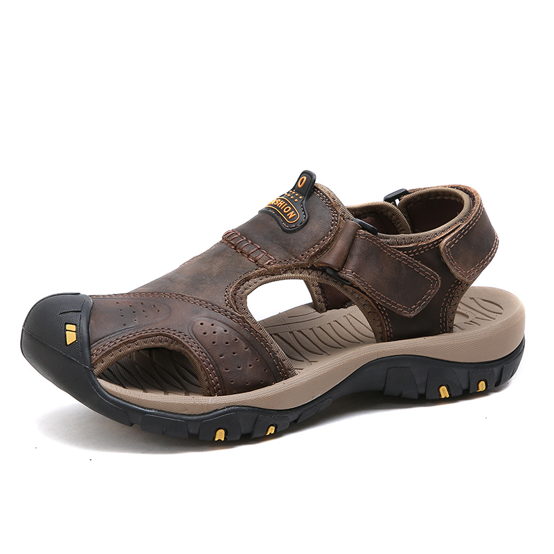 2018 Sport Beach Shoes Genuine Leather Summer Male Outdoor Sandals For Men Breathable Light Beach Quality Sport Sandal