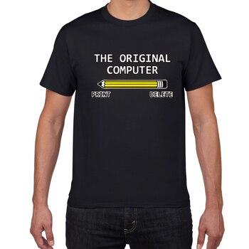 The Original Computer Geek Nerd Tee Sarcastic Adult Humor Very Funny T Shirt men geek cotton summer tshirt men loose streetwear