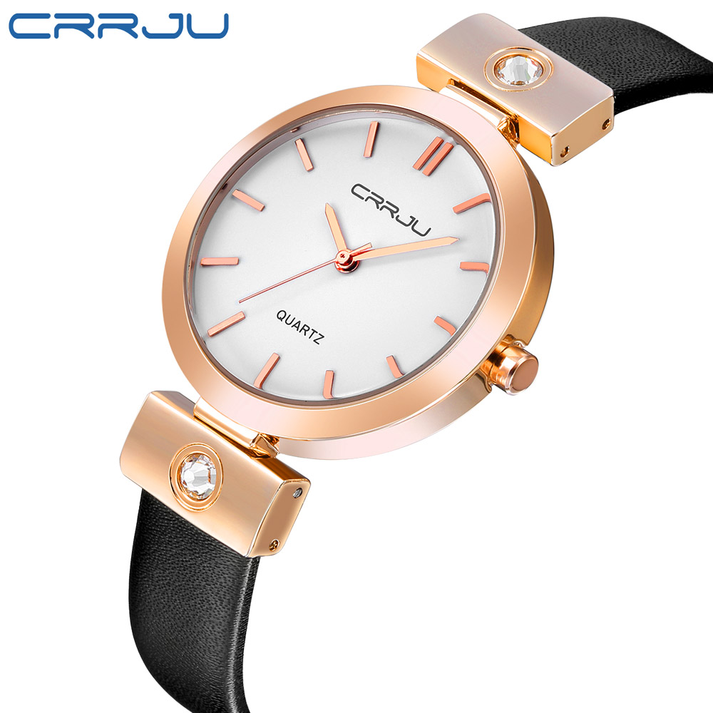CRRJU 2017 Fashion Wrist Watch Women Watches Ladies Luxury Brand Famous Quartz Watch Female Clock Relogio Feminino Montre Femme mance famous brand woman watches 2016 fashion luxury women clock charm wrap around leatheroid quartz wrist watch montre femme