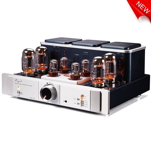 Cayin A-88TMK2 A-88T EL34 Vacuum Tube Amplifier EL34/KT88/6550EHx4 class AB1 push-pull amplifier TR~UL switch BIAS ADJ. 35W*2  цены