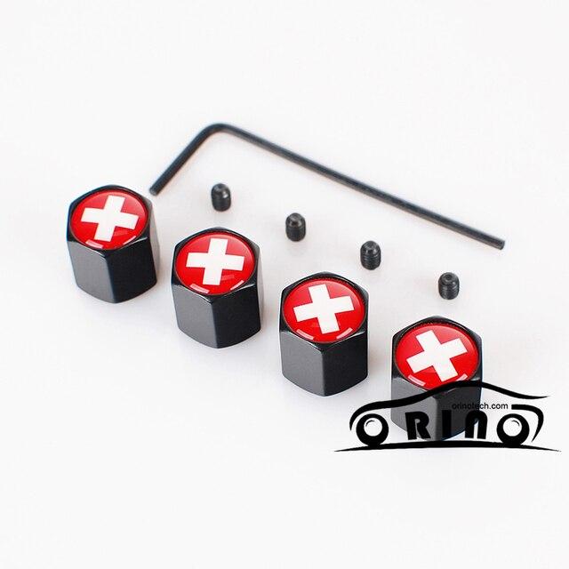 Diebstahl Schweizer Schweiz Flagge Auto Rad Reifen Ventilkappe Abdeckung Fr Chevrolet Ford Smart SITZ Citroen Volkswagen